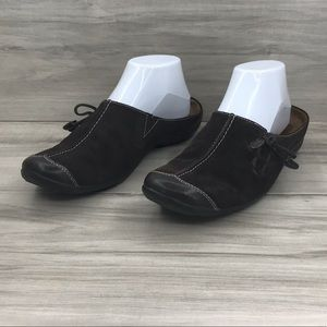 Natural Soul mules suede leather size 8.5M